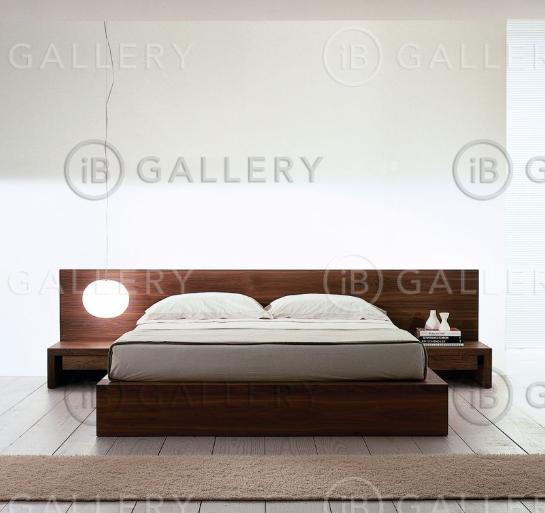 Двуспальные кровати с тумбочками фото
