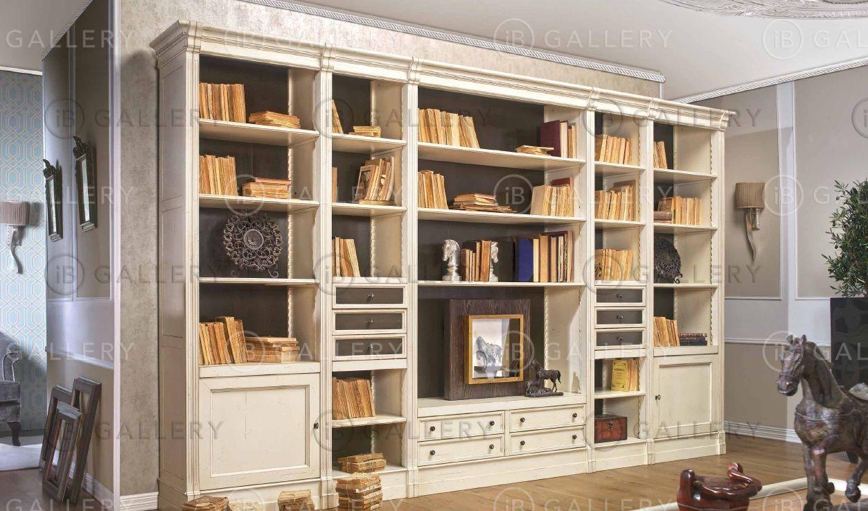 Мебель для библиотеки в классическом стиле, шкаф классически.