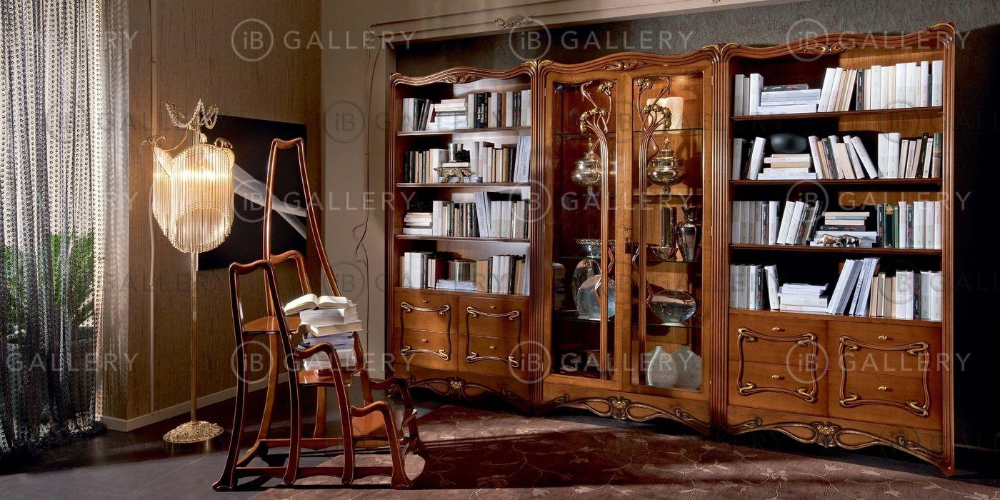 Книжный шкаф, витрина и лестница для кабинета.витрина для кн.
